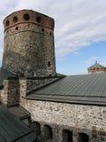 Замок Savonlinna (Olofsborg) в Финляндии Стоковые Фото
