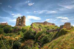 Замок Scarborough в Йоркшире, Великобритании. стоковое фото