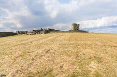 Замок Scarborough, средневековый замок в Scarborough, Англии стоковые изображения rf
