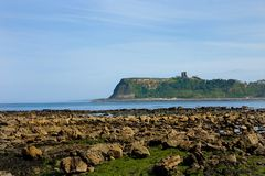замок scarborough стоковое фото rf
