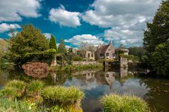 Замок Scotney старый стоковое фото