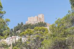 Замок Segura de Ла Сьерры, Jaen, Испания Стоковое Изображение RF