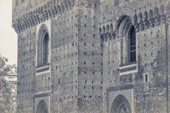 Замок Sforza в милане, деталях Стоковое Фото