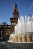 Замок Sforza в милане, Италии Стоковые Изображения RF