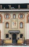 Замок Sforza, итальянка: Castello Sforzesco, в милане, северной Италии Оно было построено в XV веке на Стоковое Изображение