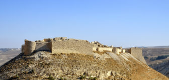 Замок Shobak в Джордане. Стоковая Фотография RF