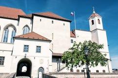 Замок Spilberk в Брне, южной Моравии, голубом фильтре Стоковые Изображения