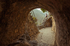 Замок St Hilarion в Kyrenia, северном Кипре Стоковые Изображения RF