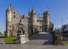 Замок Steen в Антверпене Бельгии Стоковые Фото