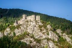 Замок Strecno в северной Словакии Стоковые Изображения