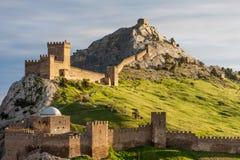 Замок Sudak в Крыме, Украине Стоковое Фото