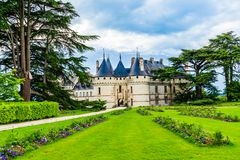 Замок sur область Луары Chaumont, Loire Valley, Франция стоковое фото rf
