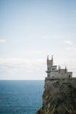 Замок Swallow& x27; гнездо на утесе, Крым s Стоковые Изображения RF