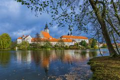 Замок Telc в чехии Стоковые Фотографии RF