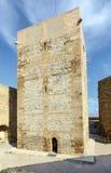 Замок Templar Monzon арабского десятого века Уэски Испании начала стоковые изображения
