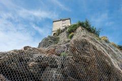 Замок terre cinque Monterosso стоковые изображения