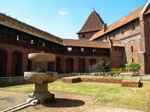 Замок Teutonic заказа в Мальборке (Marienburg), Польше Стоковое фото RF