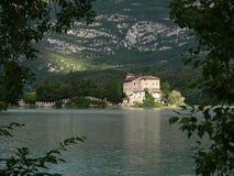 Замок Toblino, озеро Toblino, Италия Стоковые Изображения RF