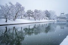 Замок Toyama в Японии Стоковые Изображения RF