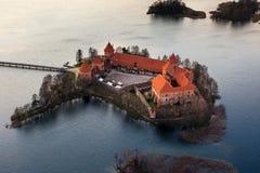 Замок Trakai в Литве Стоковые Изображения RF