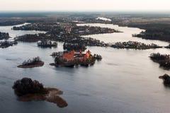 Замок Trakai в Литве Стоковая Фотография