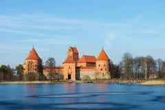 Замок Trakai - замок острова в Trakai одно из самых популярных туристских назначений в Литве, расквартировывает музей Стоковые Фотографии RF