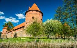 Замок Trakai Стоковое Изображение RF