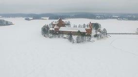 Замок Trakai сток-видео