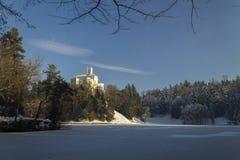 Замок Trakoscan в зиме Стоковая Фотография RF