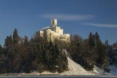 Замок Trakoscan в зиме Стоковое Изображение RF