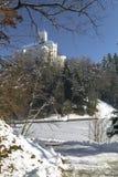 Замок Trakoscan в зиме Стоковое фото RF