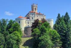 Замок Trakoscan в северной Хорватии Стоковое Фото