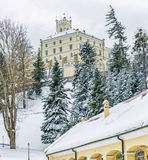 Замок Trakoscan, Хорватия Стоковое фото RF