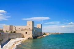 Замок trani Апулия Италия Стоковое Изображение