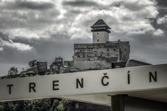 Замок Trencin, Словакия Стоковая Фотография RF