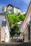 Замок Trencin, Словакия Стоковое Изображение RF