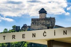 Замок Trencin, Словакия Стоковые Изображения