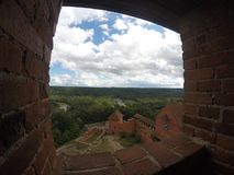 Замок Turaida в Sigulda - Латвии стоковые изображения
