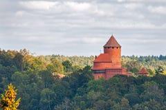 Замок Turaida стоковые изображения rf