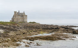 Замок Turpault в Бретани стоковое фото