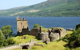 Замок Urquhart - Лох-Несс Стоковое Изображение RF