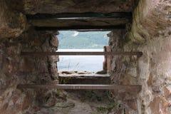 Замок Urquhart, Шотландия Стоковые Изображения RF