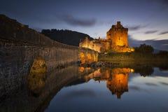 Замок v Eilean Donan Стоковое Изображение RF
