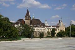 Замок Vajdahunyad в Будапеште, Венгрии, 22-ое октября 2015 Стоковое Изображение RF