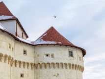 Замок Veliki Табор в Хорватии стоковые фотографии rf