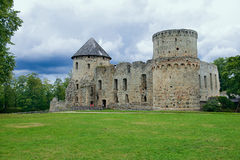 Замок Venden Городок Cesis, Латвия Стоковые Изображения RF