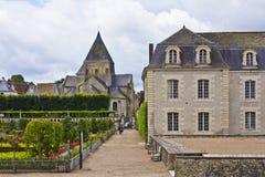 Замок Villandry (замок) и сады. стоковые изображения rf