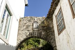 Замок Vinhais средневековый готический Стоковые Изображения