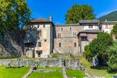 Замок Visconteo в Локарне, Швейцарии стоковые изображения rf