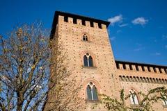 Замок Visconti, Павия, Италия стоковое изображение rf